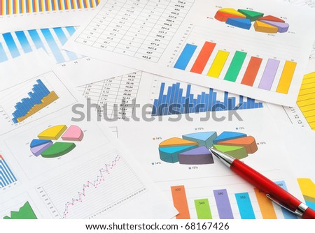 Finance documents - stock photo