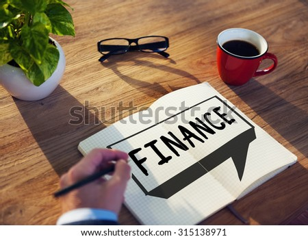 Finance Economics Accounting Interest Concept - stock photo