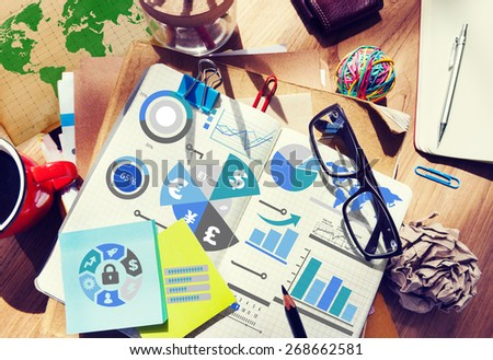 Finance Financial Business Economy Exchange Accounting Banking Concept - stock photo