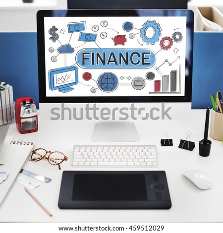 Finance Financial Economy Budget Bookkeeping Concept - stock photo