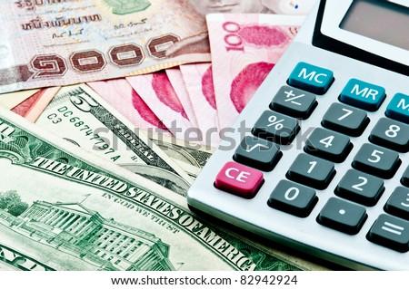 Finance money - stock photo