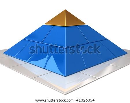 finance pyramid - stock photo