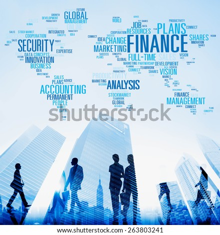 Finance Security Global Analysis Management Accounting Concept - stock photo