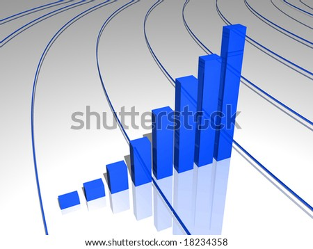 finance success graph illustration