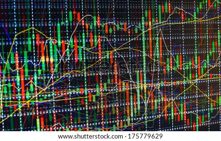 Finance trade graph. Gain and grow - stock photo