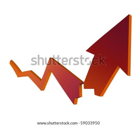 finances crash diagram - stock photo