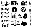 Finances Icon Set - stock photo