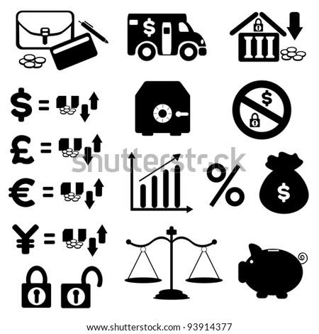 Finances Icon Set - stock photo