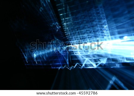 financial abstract - stock photo