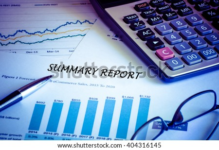 Financial accounting summary report graphs analysis, digital effect abstract for background - stock photo