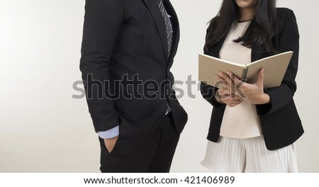 Financial advisor,investment advisor consulting with young man at classroom. Business adviser and young student planing the business start up,man meeting banker,Selective focus,Vintage tone - stock photo