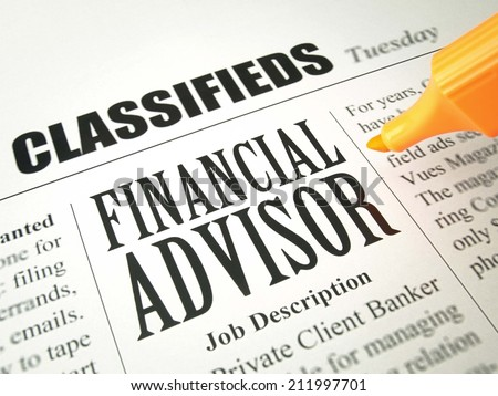 Financial Advisor (job search)   - stock photo