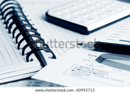 Financial analysis. - stock photo