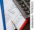 Financial and business documents - stock photo