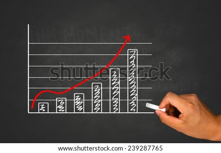 financial and marketing graph concept - stock photo