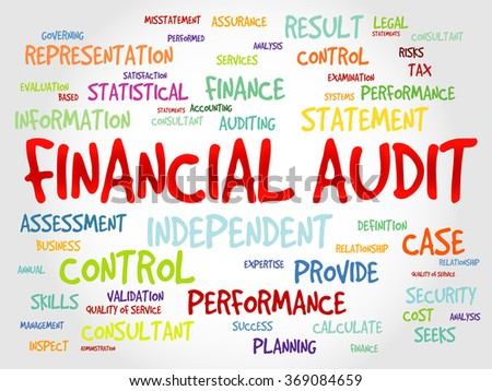 Financial Audit word cloud, business concept - stock photo