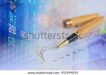 Financial background with Dollar and investment. World trade financing concept.  - stock photo