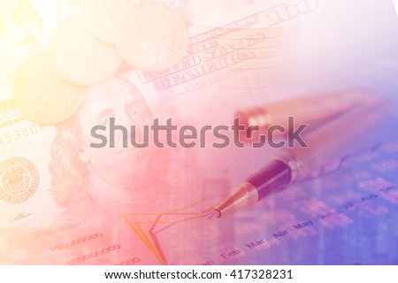 financial background with investment. World trade financing concept.    - stock photo