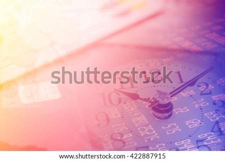 Financial background with time and investment.  - stock photo