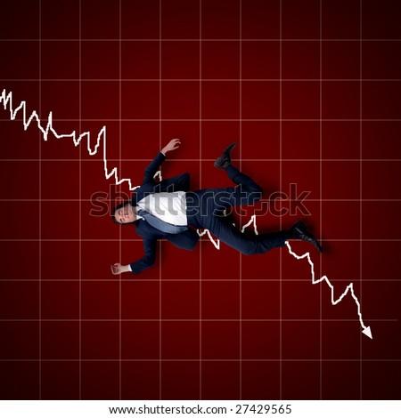 financial bankrupt concept - stock photo