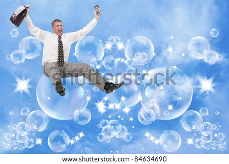 Financial business - stock photo