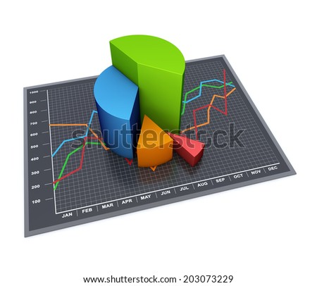 Financial business chart and graphs as concept