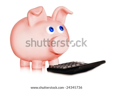 Financial calculation - stock photo