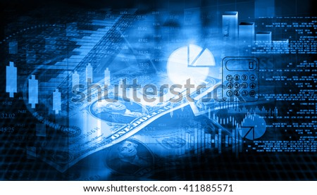 Financial chart and graphs background. stock market anylis.  - stock photo