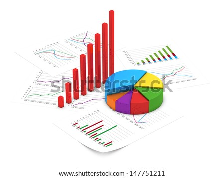 Financial charts - stock photo