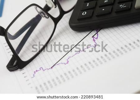 Financial charts  - stock photo