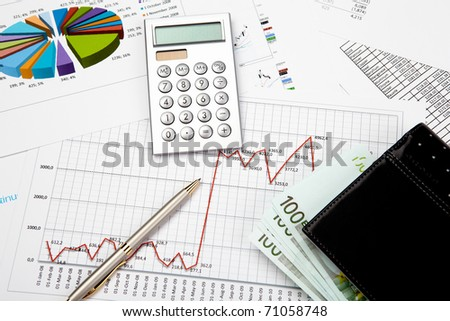financial charts and graphs