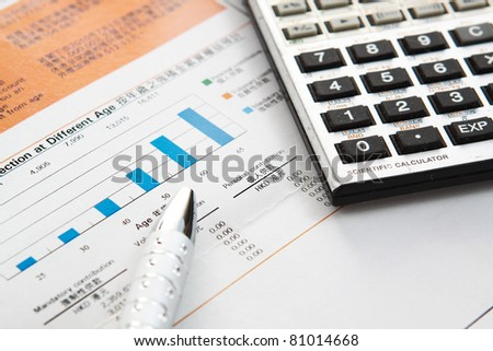 Financial concept: analyzing.