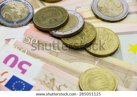 Financial concept - Euro money