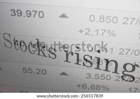Financial concept. Rise stock market. - stock photo
