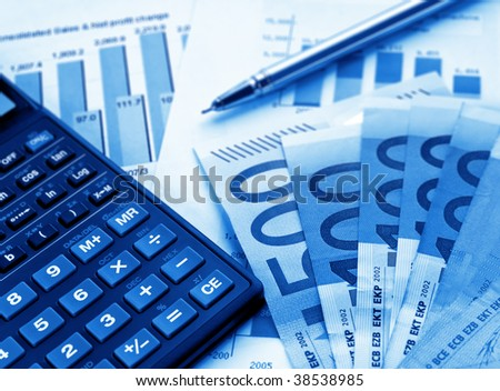 Financial concept (shallow DOF)