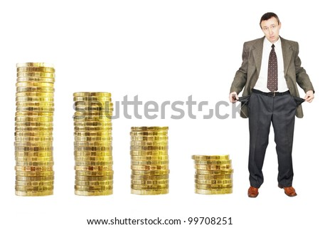 Financial crisis. Bankruptcy - stock photo