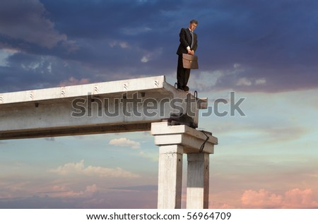 Financial crisis. Business concept - stock photo