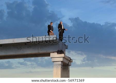 Financial crisis. Business concept - stock photo