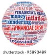 Financial Crisis Concept is word collage - stock photo