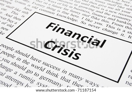financial crisis concept with fake newspaper showing economic downturn - stock photo