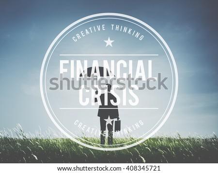 Financial Crisis Depression Recession Downtown Concept - stock photo