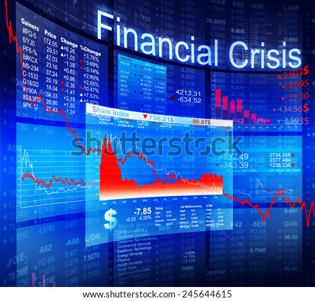 Financial Crisis Economic Stock Market Banking Concept - stock photo
