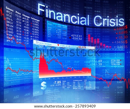 Financial Crisis Economic Stock Market Banking Concept - stock photo