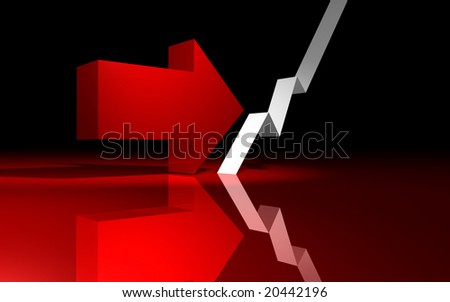 Financial crisis reversal - stock photo