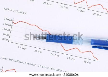 financial crisis, stock market bessa, crash, index - stock photo