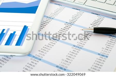 Financial data analysis concept - stock photo