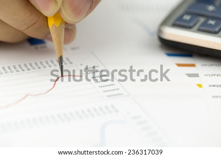 Financial data analyzing - Stock Image - stock photo