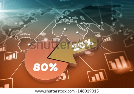 Financial data in form of charts and diagrams  - stock photo