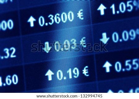 Financial data on a monitor. Finance data concept. - stock photo