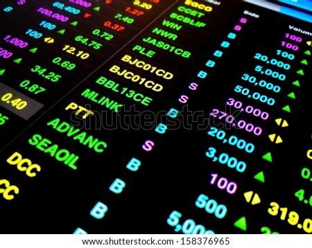 Financial data,  Stock exchange  - stock photo